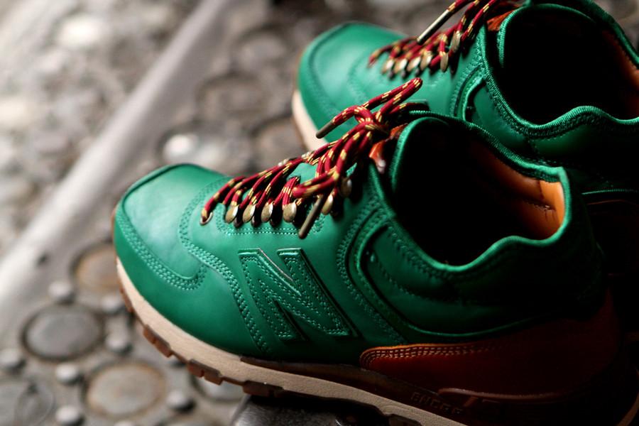 new balance leather green