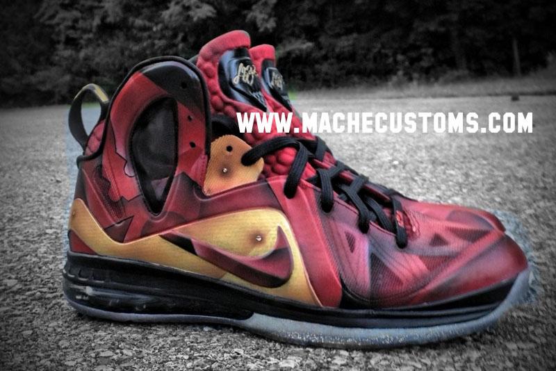 "9079571bff1c Nike LeBron 9 P.S. Elite ""Tony Stark"" by Mache Custom Kicks ..."